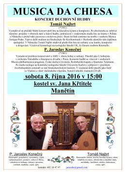 Musica da Chiesa - Římskokatolická farnost Manětín