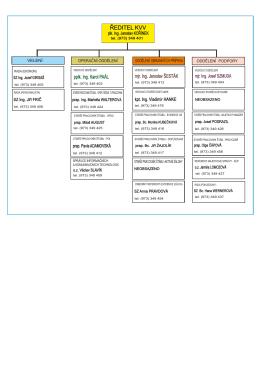 organizační schema KVV KV k 1.9.2016