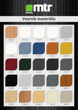 Vzorník materiálu