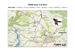 TREK kurz 6.B 2016 Pěší výlet