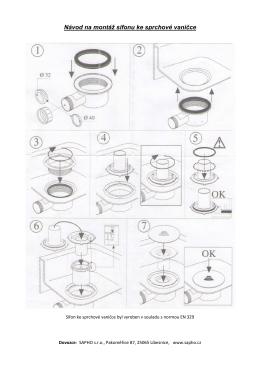 Návod na montáž sifonu ke sprchové vaničce 1710C a 1711C