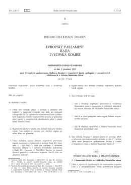 Interinstitucionální dohoda ze dne 2. prosince 2013 mezi - EUR-Lex