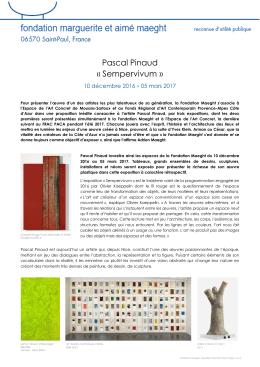 Pascal Pinaud « Sempervivum