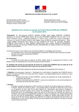 Réunion du 9 octobre 2014 - AP-HM