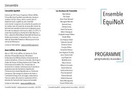 Le programme détaillé - Eglise protestante unie de Grenoble