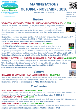 oct nov 2016 - Office de Tourisme de Beuzeville