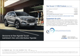 Découvrez le New Hyundai Tucson maintenant chez