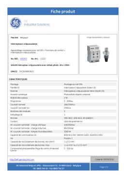 Fiche produit - GE Industrial Solutions