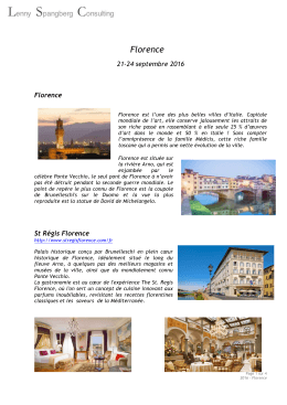Programme Florence