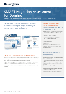 SMART Migration Assessment for Domino