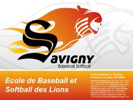 École de baseball - Savigny Lions Baseball Softball
