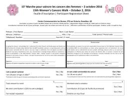 15e Marche pour vaincre les cancers des femmes