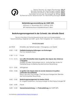 Bedrohungsmanagement in der Schweiz: der aktuelle Stand