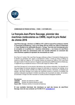 Le françaisJean-Pierre Sauvage, pionnier des machines
