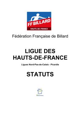 Statuts Hauts-de-France - Comité Départemental de Billard de la