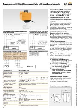 Servomoteurs rotatifs NR24-3(-S) pour vannes à boiss