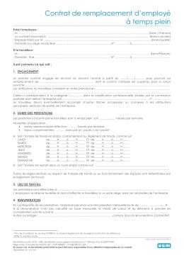 Contrat de travail spécifique pour l`occupation d`un concierge