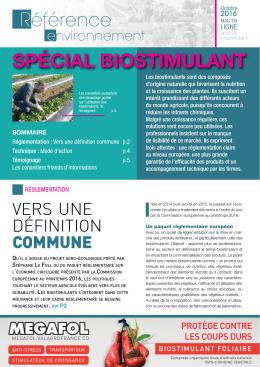spécial biostimulant - Référence environnement