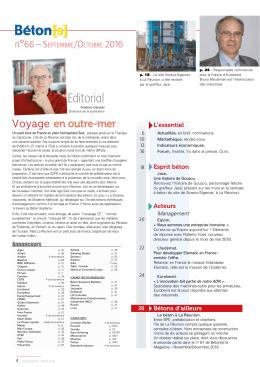 Sommaire - Béton[s] le Magazine