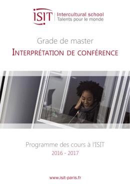 Téléchargez le programme Interprétation de conférence 2016