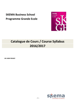 Course Catalogue_M1 - SKEMA Business School