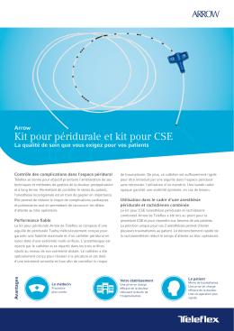 Kit pour péridurale et kit pour CSE