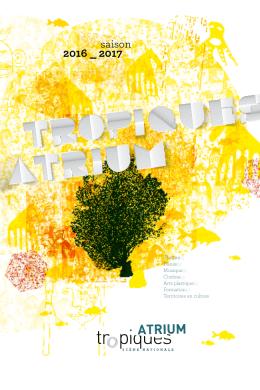 Brochure Trimestrielle Octobre - Décembre 2016