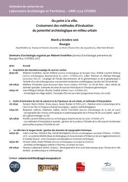 Laboratoire Archéologie et Territoires – UMR
