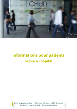 Informations pour patients - CHdN - CHdN