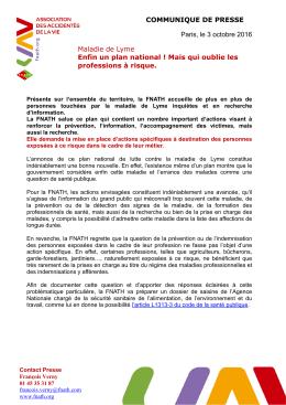 CP plan maladie de Lyme 03.10.16