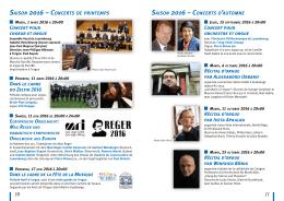 saison 2016 – concerts d`automne