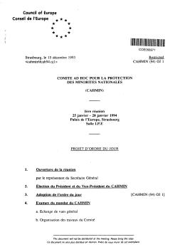 cahmin(94) - Conseil de l`Europe