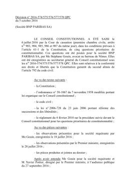 Lire la question prioritaire de constitutionnalité ICI.