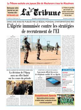 L`Algérie immunisée contre les stratégies de