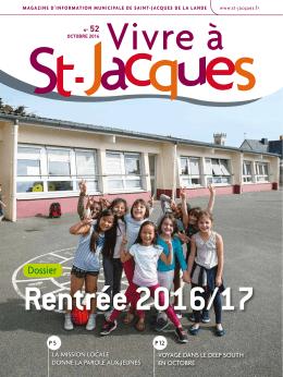 Vivre à St-Jacques Octobre 2016