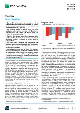 Zone euro : saison budgétaire