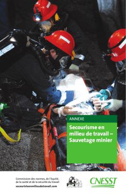 Secourisme en milieu de travail – Sauvetage minier