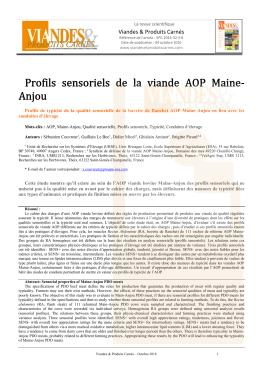 Article au format pdf - La revue française de la recherche en viandes