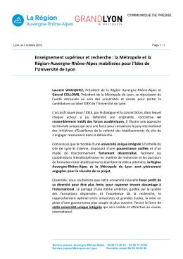 Enseignement supérieur et recherche : la Métropole et la Région