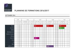 planning de formations 2016-2017