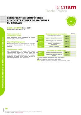 certificat de compétence administrateurs de machines