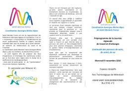 Consulter le programme - ARASM : Le site de l`Association