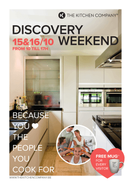 discovery weekend - The Kitchen Company