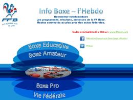 Le 08 Octobre 2016 - Fédération Française de Boxe