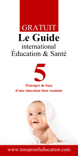 Le Guide - Projet international Education et Sante