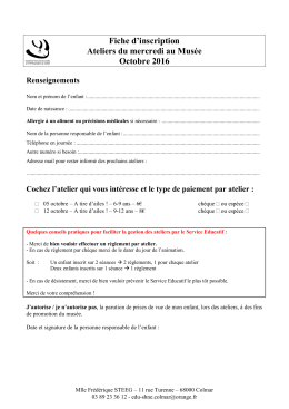 2016 – inscription – ADM – octobre
