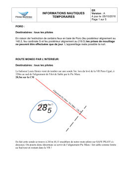 Informations nautiques temporaires