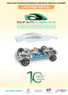 Catalogue officiel 2016 - equip auto algeria 2016