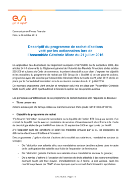 CP ESIGroup_Programme Rachat d`actions061016V2