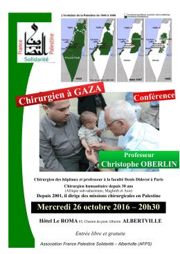 Chirurgien à GAZA